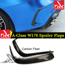 For Mercedes Benz A-Class W176 A180 A200 A250 A45 AMG Carbon Fiber Rear Bumper Air Vent Molding Trim canards Splitter 2013-2018