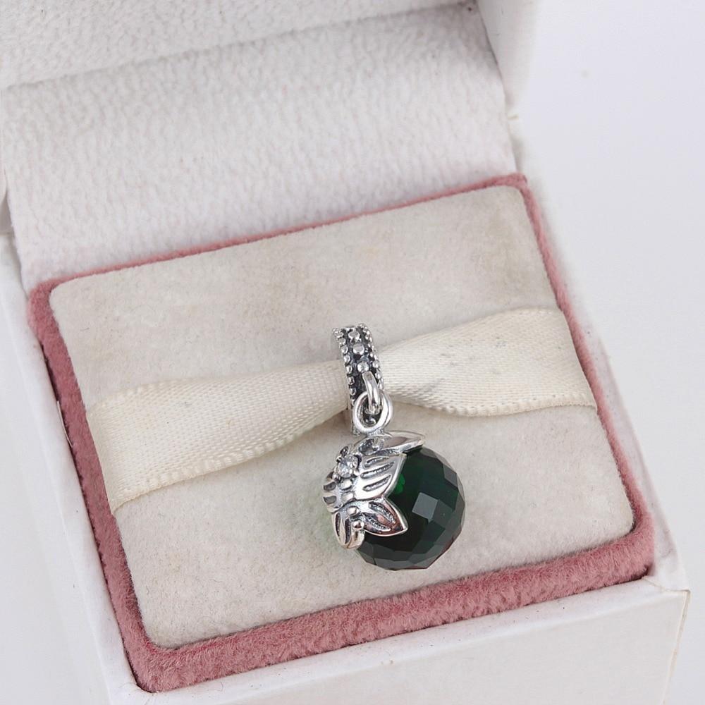 ZMZY 925 Sterling Silver Charms Green Morning Butterfly Pendants Beads fit Pandora Charm Bracelet