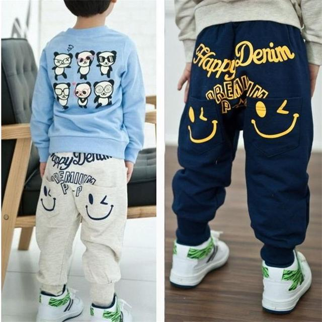 Retail  New spring autumn cotton pants Boys Girls Casual Pants 2 Colors Kids Sports trousers Harem pants Hot Sale