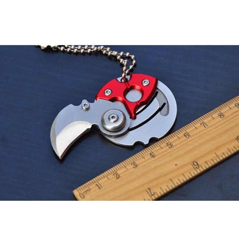 Самоличная защита мини складной Монетный Нож EDC инструмент для переноски маленький карманный нож брелок с подвеской брелок для выживания н...