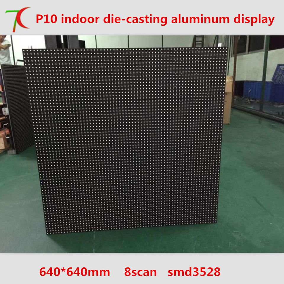640mm*640mm Indoor 8scan P10 Die-casting Aluminum Cabinet  Led Board ,10000dots/m2
