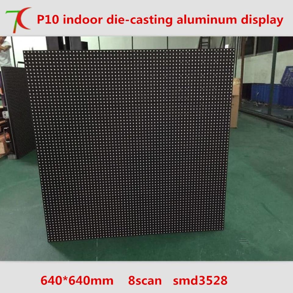 640mm*640mm Indoor 8scan P10 Die-casting Aluminum Cabinet  Led Board ,10000dots/m2
