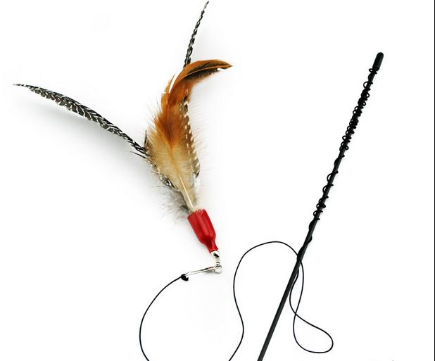 Pet supplies wholesale classic birds flying style Pearl birds tease cats rods cats toys Cat stick 5 pcs/lot free shipping
