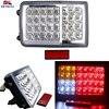 KEYECU 1 Pair 32 LED Trailer Truck Tail Rectangle Lights DC 12V Red Amber White For