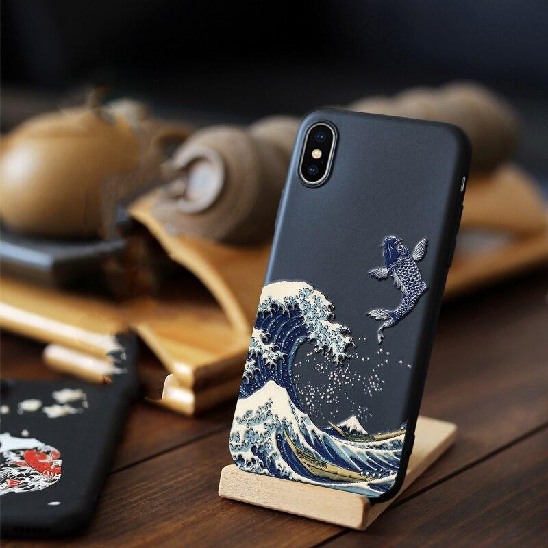 Para iPhone XR X 10 s Max X 8 7 Plus caso 3D alivio mate suave cubierta LICOERS oficial caso para iPhone X r s 7 Plus 8 Plus caso