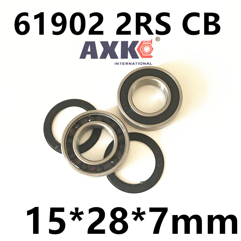 Free Shipping HUB REPAIR BEARING / HYBRID CERAMIC 61902 2RS CB 15*28*7mm 6902 2rs 15267 2rs 15 26 7mm 15267rs si3n4 hybrid ceramic wheel hub bearing