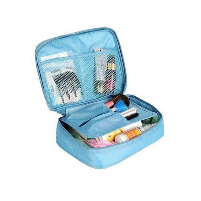 2017 Nylon Zipper Women Makeup bag Cosmetic bag Case Make Up Organizer Toiletry bag kits Storage Travel Wash pouch chisme viajes