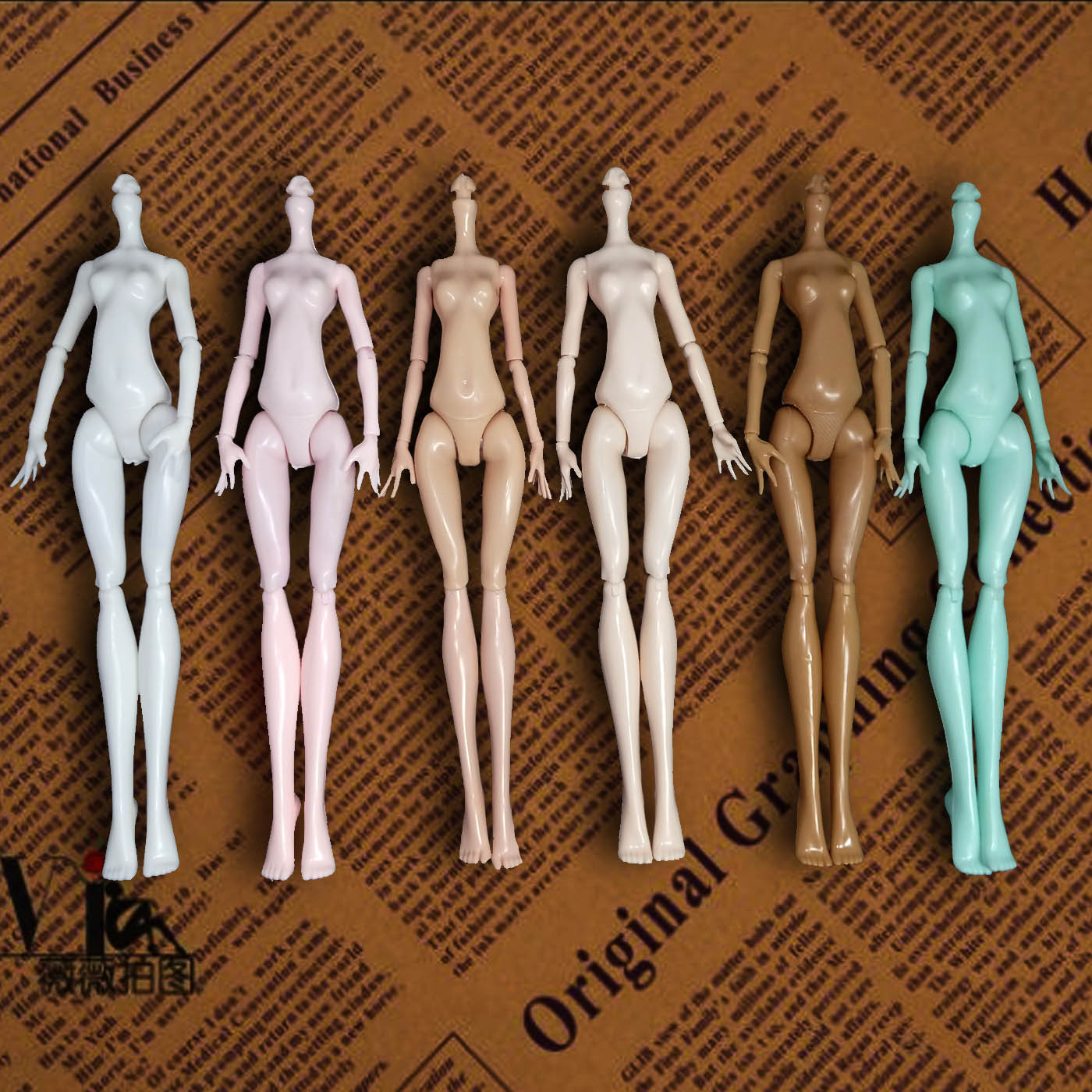 High Quality Imitation Demon Monster Dolls Nød Body uden hoved til Monster High Dolls DIY Fairytales Roterable Joints Doll