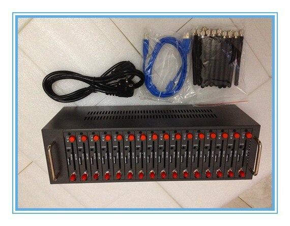 USB 16 sim slots wavecom q2303 bulk sms modem pool support imei changing USSD At Command