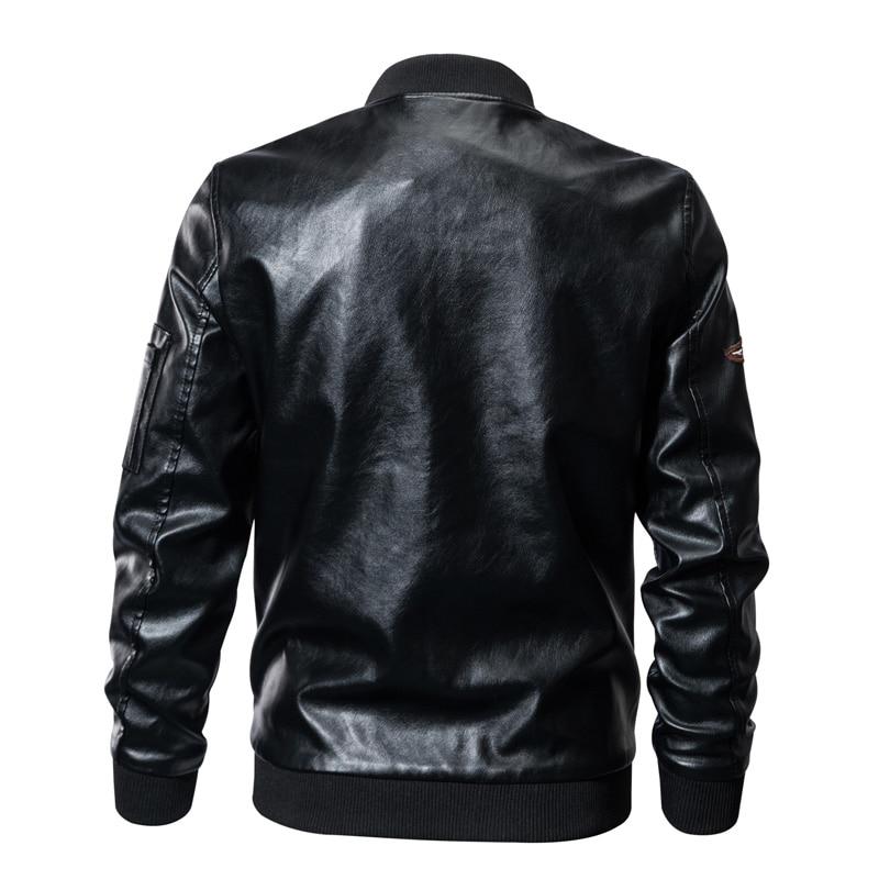 En Hiver Cuir Militaire Bomber Taille Xxxxl Épaulette Plus Leather Veste La 2019 Vêtements Men Air Pu Printemps Hommes Armée Insigne Force Streetwear Jacket qxFtzwt