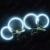 Anillos de Halo de Luz Del Ojo Del Ángel de CCFL del coche Kits de Faros para BMW E46 (NON proyector) de Luz Automático 6 Colores # CA4174