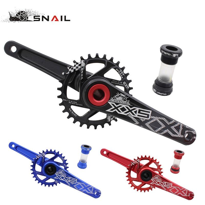 SNAIL Bike Bicycle Suit Sets Crankset crank Chainwheel 30T 32T 34T 7075 CNC Narrow Wide Chainring For Sram GXP XX1 X9 XO X01 AL