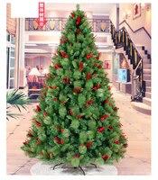 Free Shipping 240CM Tall Luxury Encryption Christmas Tree Heavy Pine Artificial PVC Ximas Christmas Trees New Year Decoration