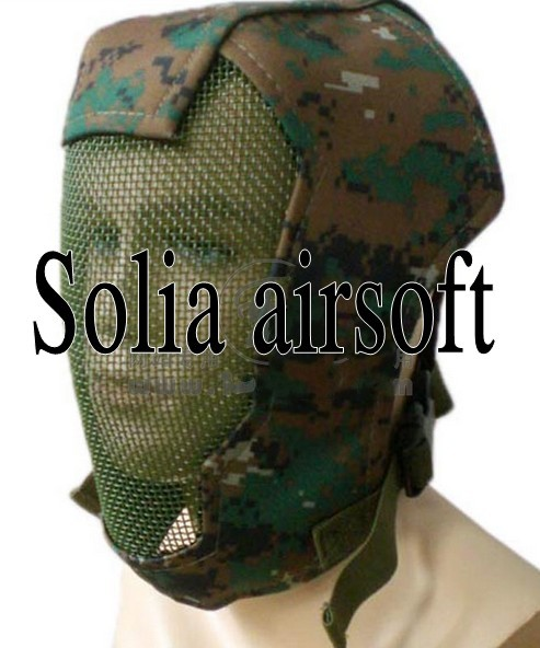 Full face GEN 3 steel wire gauze mask Digital Woodland Camo for hunting  sport free shipping on Aliexpress com | Alibaba Group