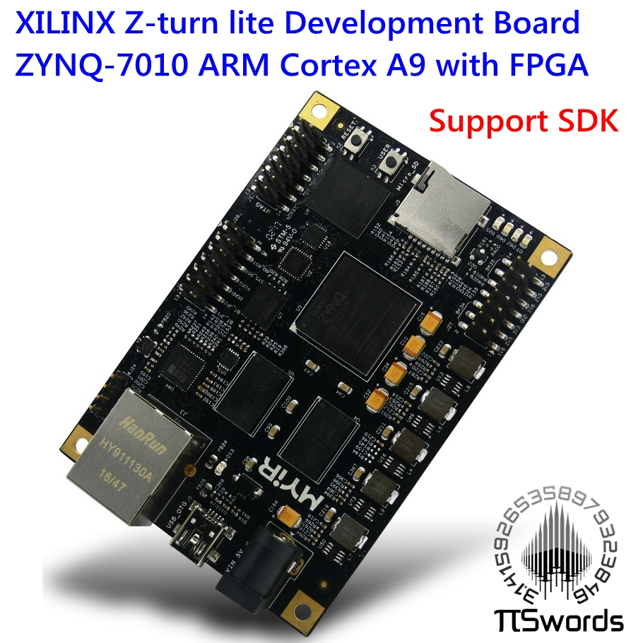 XILINX Z-turn lite ZYNQ-7010 ARM Cortex A9 with FPGA dual core Development Board Control Board XC7Z010 develop Board Звуковая карта