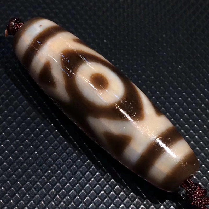 181108-2 Loosing Bead Natural Stone 3 Eyes Cinnabar Materials Tibetan Dzi Beads Powerful Amulet Antique Pendant Real Tibet Beads 30x12mm natural red chalcedony 3 5 6 7 8 9 eyes pattern tibet dzi loose beads pendant tibet beads for women
