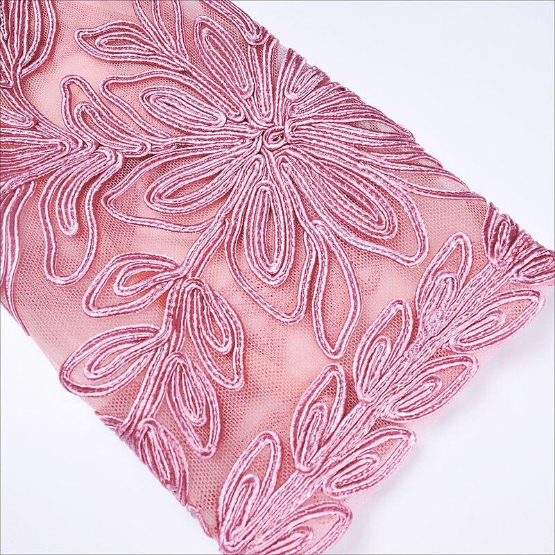 Femmes Rose 2019 Eugen Style Fil Robe Automne Hanche Hiver Creux Élégant L'industrie Nouveau Broderie Montré De Lourde Dentelle qgwUtS