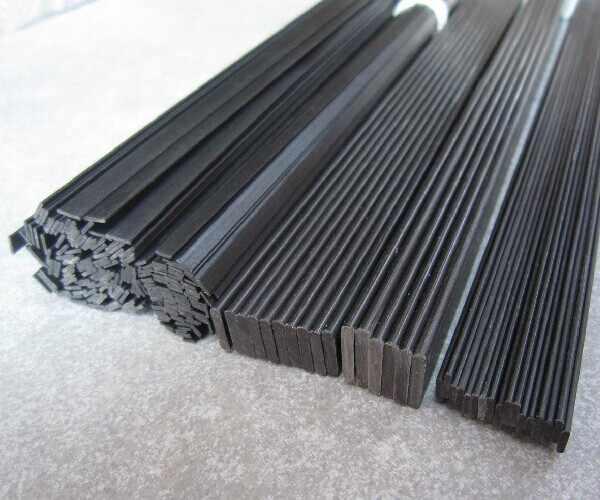 16 unids/lote Material de fibra de carbono 0,5mm * 3mm 0,6*5 1*3 1*4 1*5 1*6 hojas de fibra de carbono para RC Quadcopter multicóptero (0,5 metros)