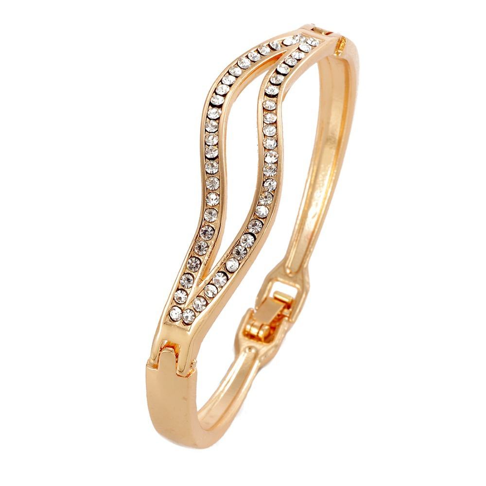 Wholesale OL Simple Elegant Design Gold Bangle For Lady ...