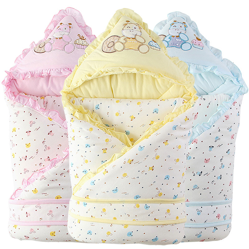 0-1 Years Baby Sleeping Bag Detachable Cartoon Cotton Thick Envelope For Newborns Autunm Winter Stroller Sleeping Bags