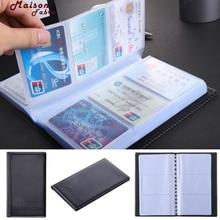 Maison Fabre Card-fodral korthållare Svart Läder 120 Företagsnamn Card Holder Book Wallet Cover Väska Väska