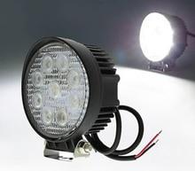 цена на ECAHAYAKU 2x  12V 24V 4 Inch 27W LED Car Work Light Bar Spot Flood Beam Motorcycle Lamps Driving Fog lights for Off Road Tractor