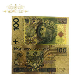 Jolis billets polonais, 10 pièces/lot, réplique d'argent de Collection, billets en or 24k 100 PLN