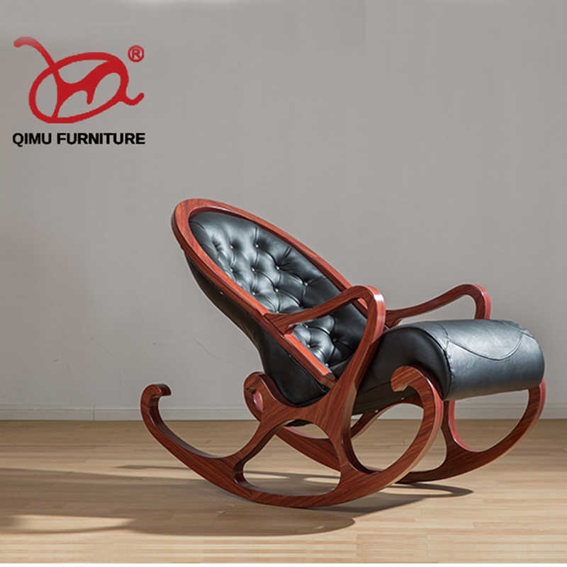 Noenname Null Retr Elegant Solid Wood Rocking Chair Suitable For