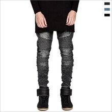 Locomotive jeans persönlichkeit patchwork jeans männer baumwolle bleistift männer jeans mode street style dünne jeans männer