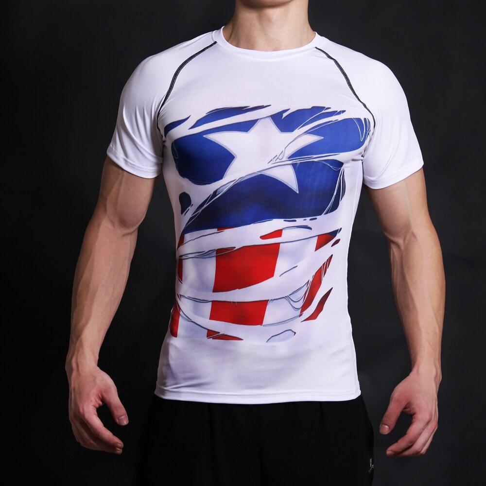 Capitán América, camiseta de la guerra civil, camisetas impresas en - Ropa de hombre