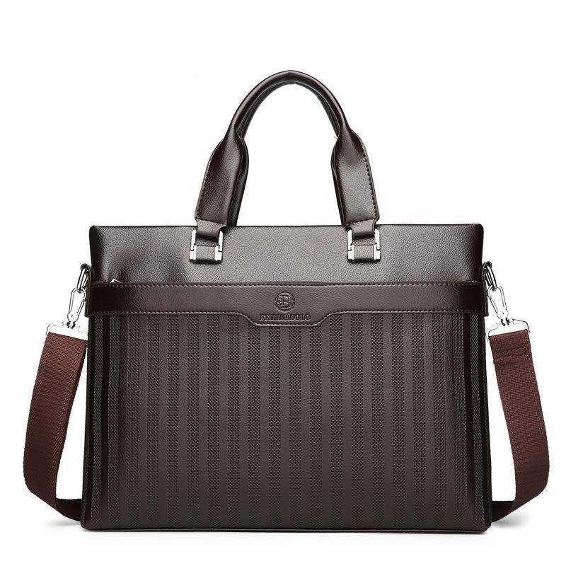 Men's Casual Handbag Embossing Trade Business Male Bag Single Shoulder Oblique Spanning Computer Bag