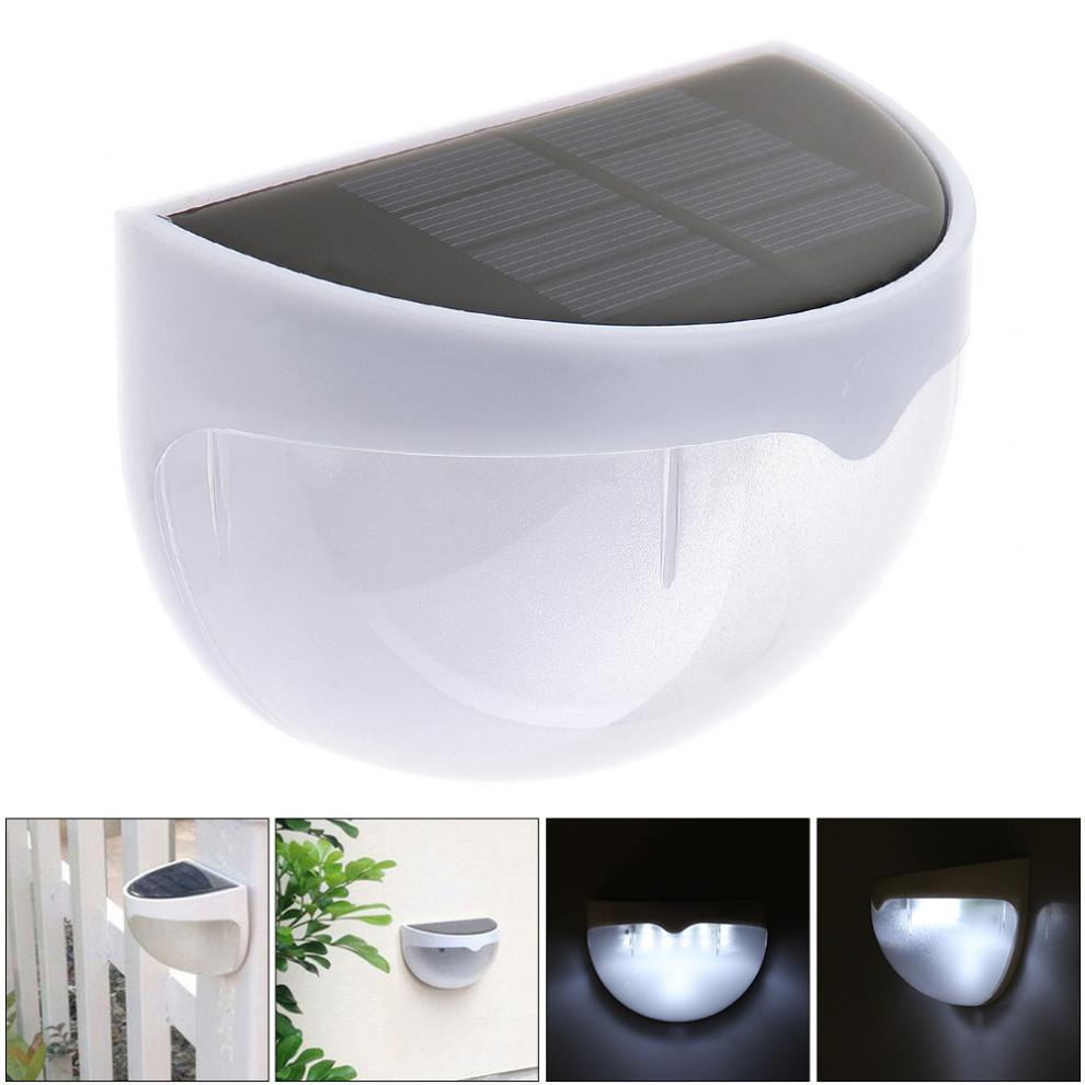 New Waterproof Solar LED Wall Lamp Night Light with Motion Sensor and Semi-circle Type for Garden / Staircase / Door