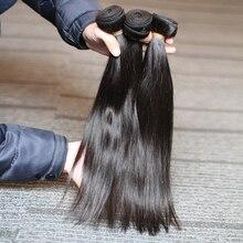 Rosabeauty自然な色ブラジル毛織りバンドルストレート未処理の人間の髪製品 6 30 28 30 インチ生バージン髪