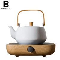 220V Simple White Ceramic Teapot Electric Ceramic Heaters Kung Fu Tea Set Accessories Home Heat Resistant Drinkware Coffee Pots