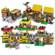 My Happy World Village Figures Building Blocks DIY Creative Bricks Educational Children Toy Compatible with Legoed blocks