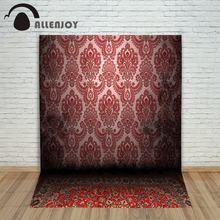 Allenjoy photography backdrops damask Noble royal mystery carpet red pattern Photo background photocall for photo studio