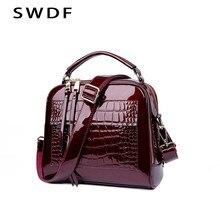 SWDF – sacs à main de styliste en cuir Pu pour femmes, sacoche de qualité à motif Crocodile, sacs à bandoulière en cuir verni pour dames, nouvelle collection
