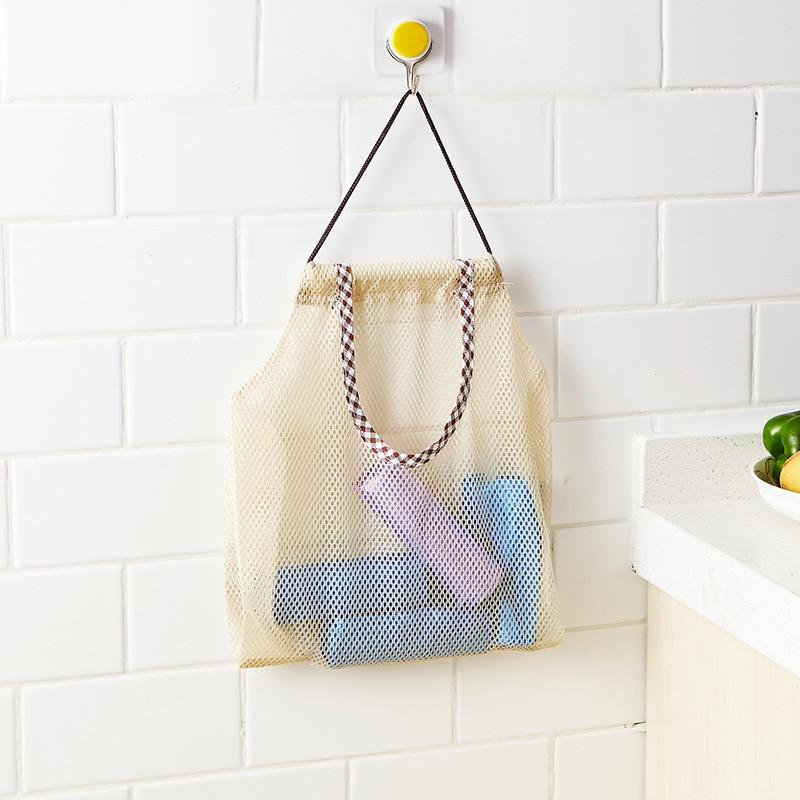 1 Pc Bad Hängen Mesh Bad Spielzeug Netto Lagerung Taschen Faltbare Net String Tasche Mehrweg Obst Küche Lagerung Korb Totes