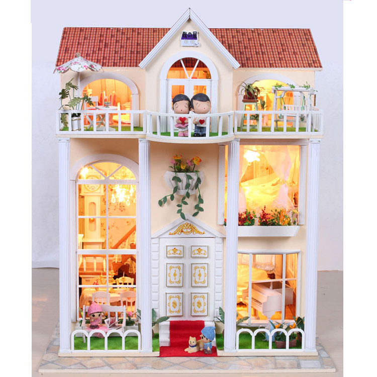 lighting for dollhouses. aliexpresscom buy century garden large scale diy doll house 3d miniature lightswood handmade kits building model play toy home decoration from lighting for dollhouses