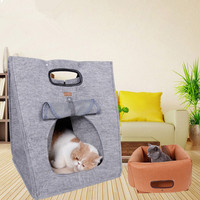 Muti-funzione piccolo gatto domestico del cane del cucciolo carrier bag letto cave casa foldeble portatile di alta qualità gatto cane piccolo animale domestico sotto 5 kg