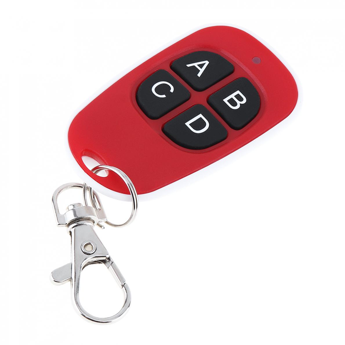 plastic 4 Channel Duplicator Copy Wireless Remote Control with Keychain and Indicator Light for Universal Door Gate New in Remote Controls from Consumer Electronics