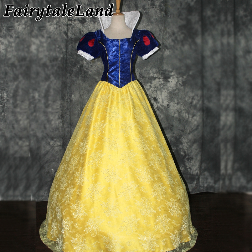 Adult Snow White Dress Carnival Fancy Party Cosplay Dress Costume Snow White Princess Dress Halloween Costumes