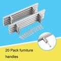 20 Pçs/lote Bar Móveis Puxador de Gaveta Pull Knob Aço Inoxidável Armário de Cozinha Em Casa