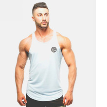 2018  Summer New Men Vest Clothing Tank Top Men Bodybuilding Male  Printing Fitness Sleeveless  Breathable Workout Clothes