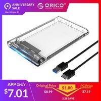 ORICO 2139U3 жесткий диск 2,5 дюйма Прозрачный USB3.0 жесткий диск вспомогательное устройство протокола UASP для 7-9,5 мм HDD