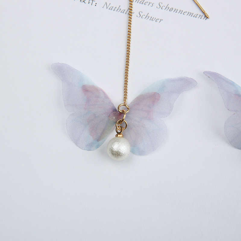 2019 Hot Fashion Brincos Oorbellen Bijoux Insect Butterfly Simulated-pearl Maxi Long Statement Drop Earrings For Women Jewelry