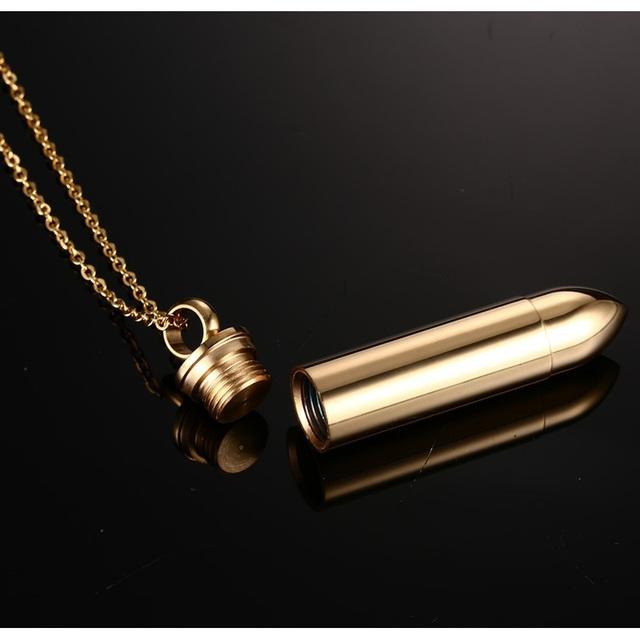 Laconic Bullet Urn Necklace