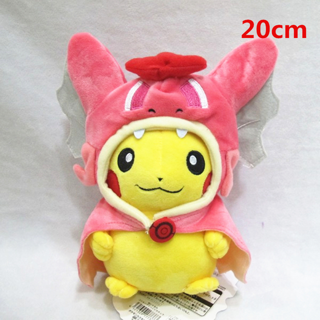 Good Quality Red Gyarados Pocket Monster GO Plush Toy Peluche Pikachu Cosplay Stuffed Plush Toy Kids Gifts Cards