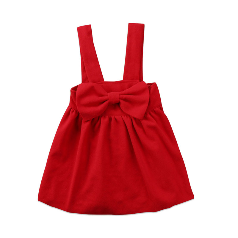 Toddler Kid Baby Girl Princess Bow Tie Dreess Party Formal Dress Suspender Clothes Outfit