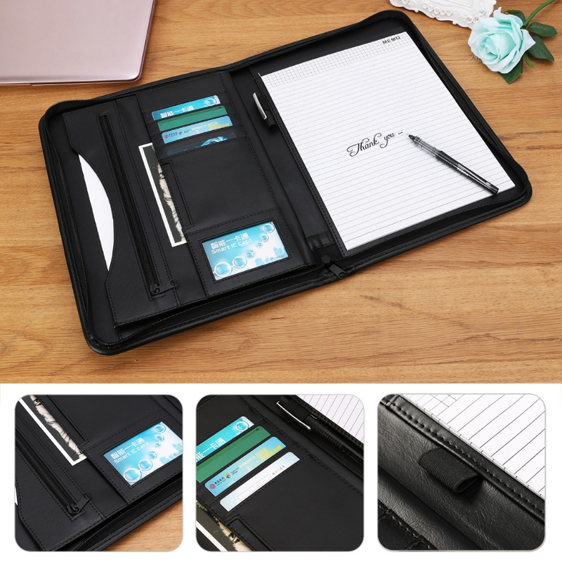 A4 Folder Conference File Document Bag Organizer Manager Layout Clip Business Bag ppyy new a4 zipped conference folder business faux leather document organiser portfolio black